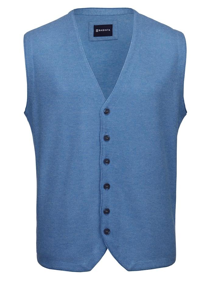 BABISTA Pletená vesta z ľahko ošetrovateľného mixu bavlny, Modrá