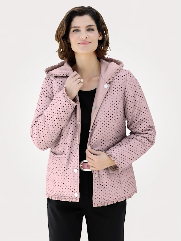MONA Reversible jacket with horizontal quilting, Rose