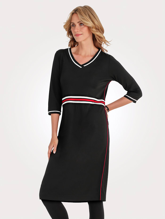Dress made from jersey