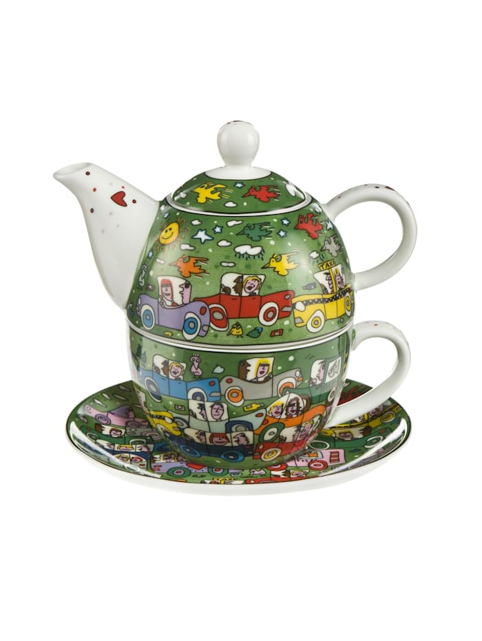 Goebel Tea for One James Rizzi - Crosstown Traffic, Rizzi - Crosstown Traffic