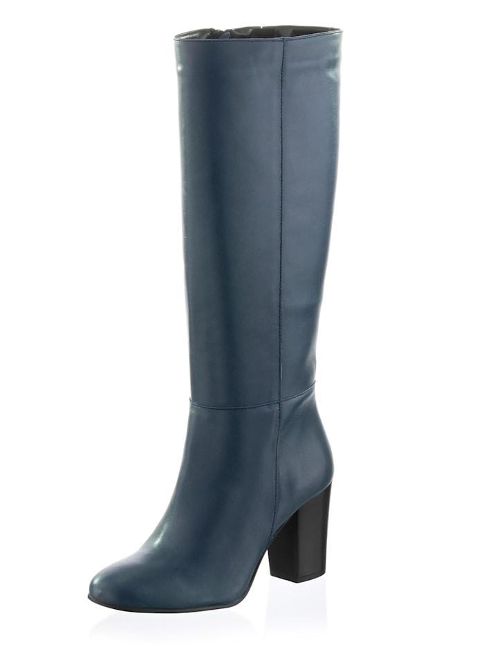Alba Moda Bottes à coutures sport, Bleu