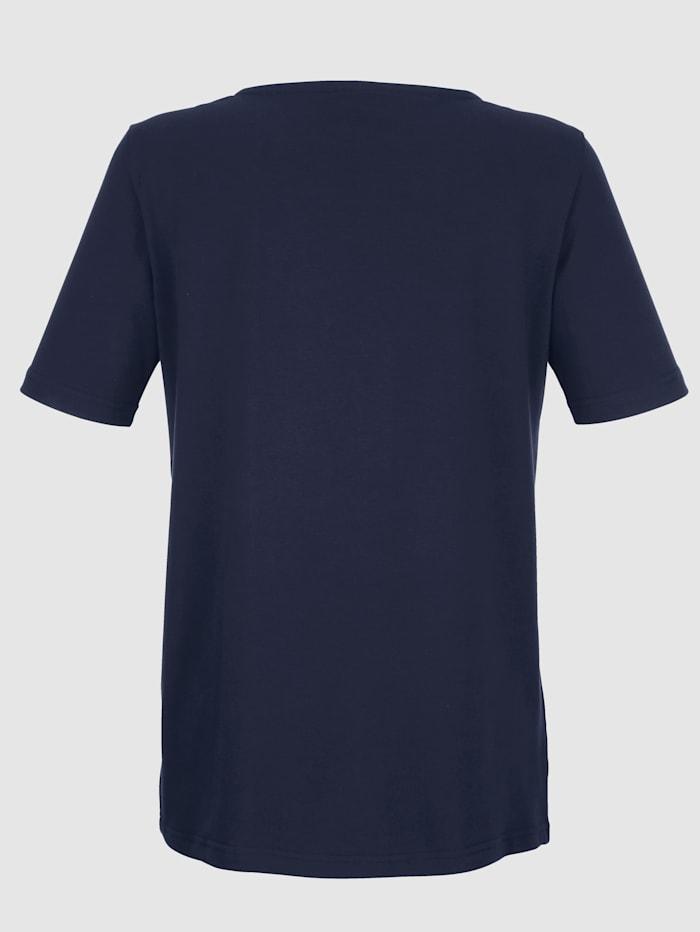 Reikäkirjailtu paita puuvillasekoitetta