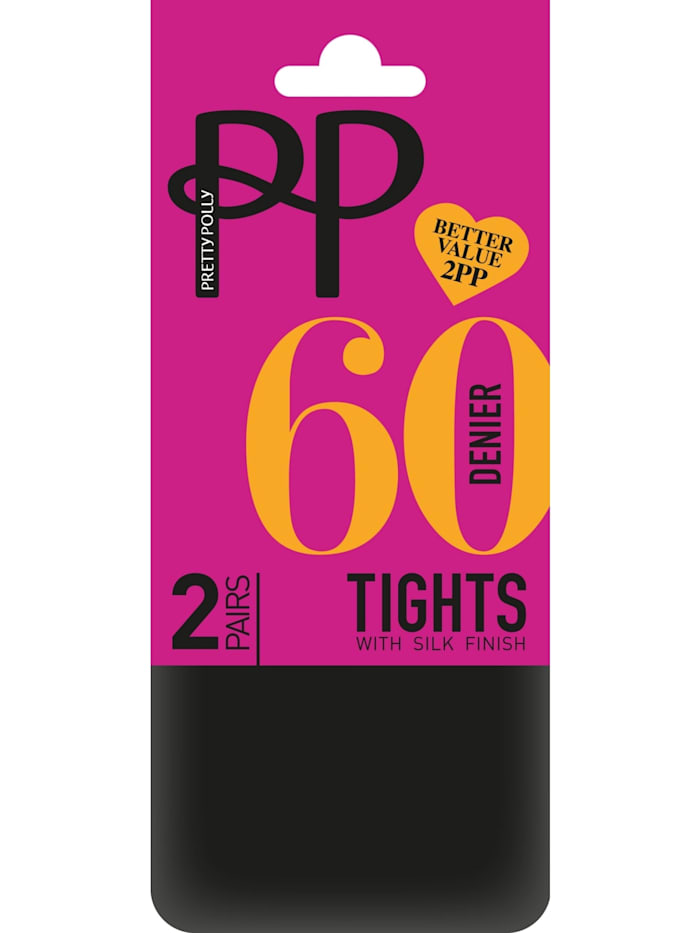 Basic Opaques 60D Tights with Silk Finish - 2 Paar