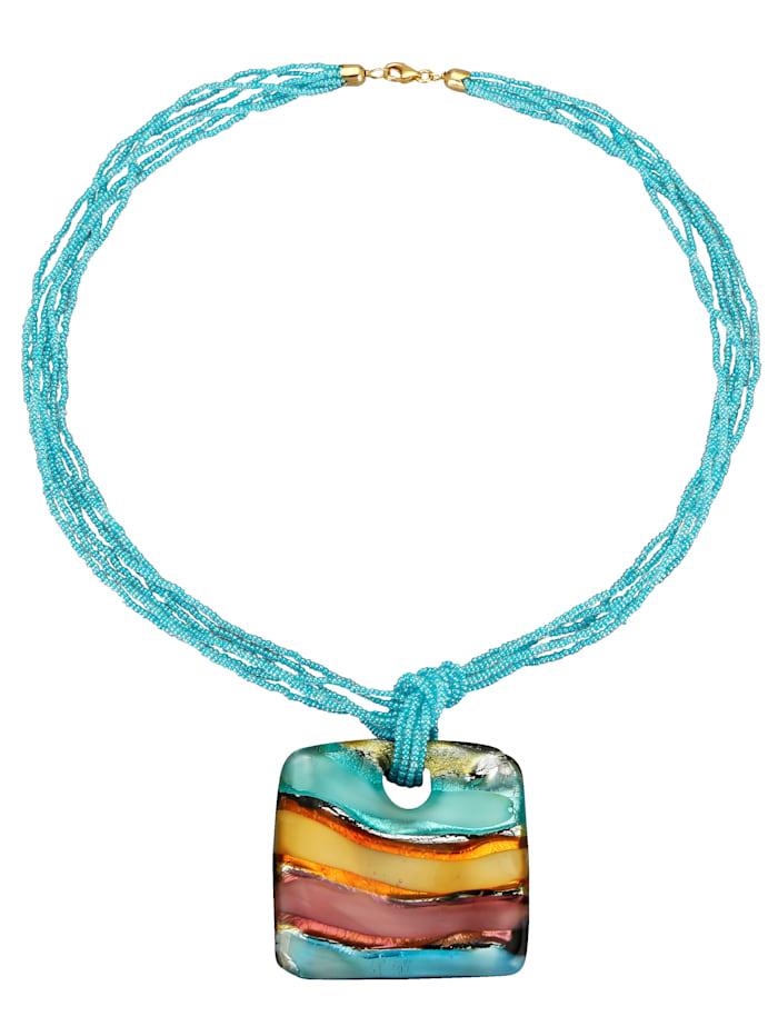 Ketting met hanger van Muranoglas
