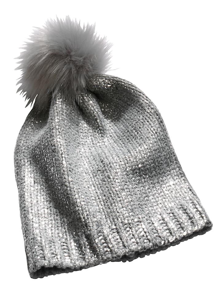 Mütze mit silbernem Foliendruck