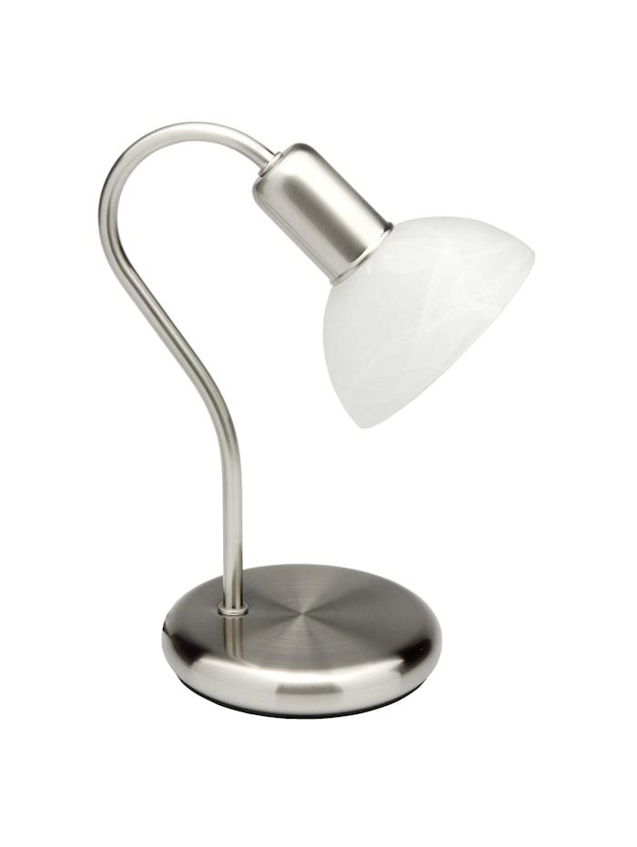Pearl Tischleuchte eisen/weiß-alabaster