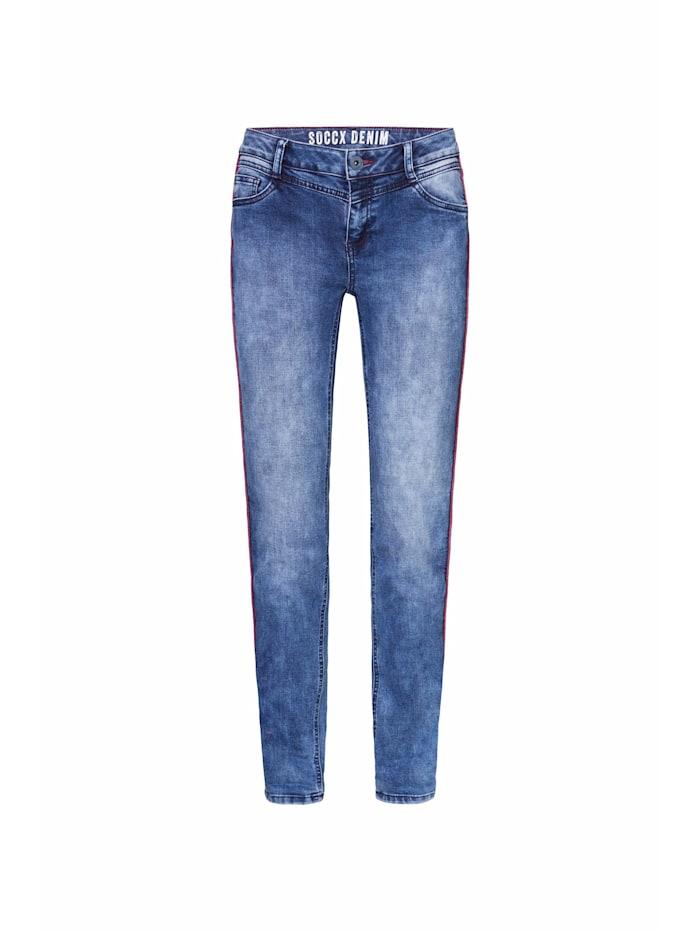 Jeans CH:EA mit Piping und gefärbter Innenseite