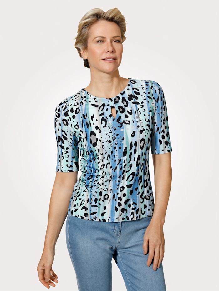 Barbara Lebek Shirt, Türkis/Blau