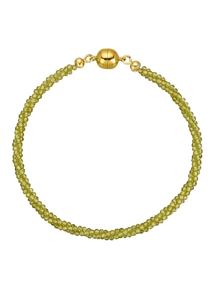 Gemondo 3rhg. Peridot-Armband, Grün