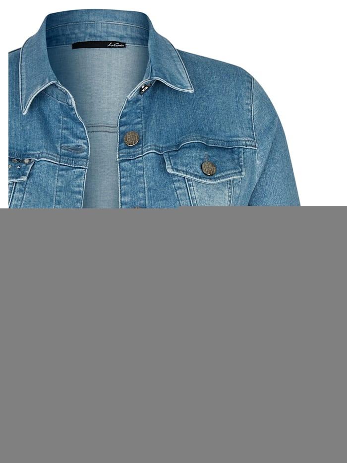 Jacke mit Glitzersteinen und Knöpfen