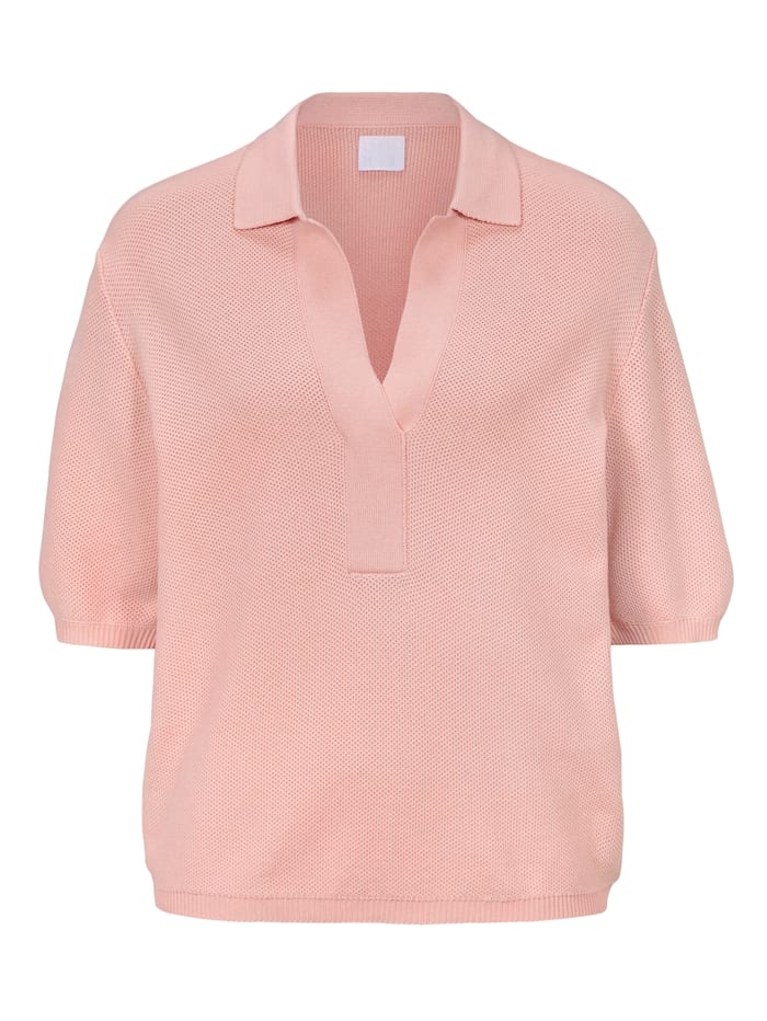 REKEN MAAR Stickshirt, Rosé