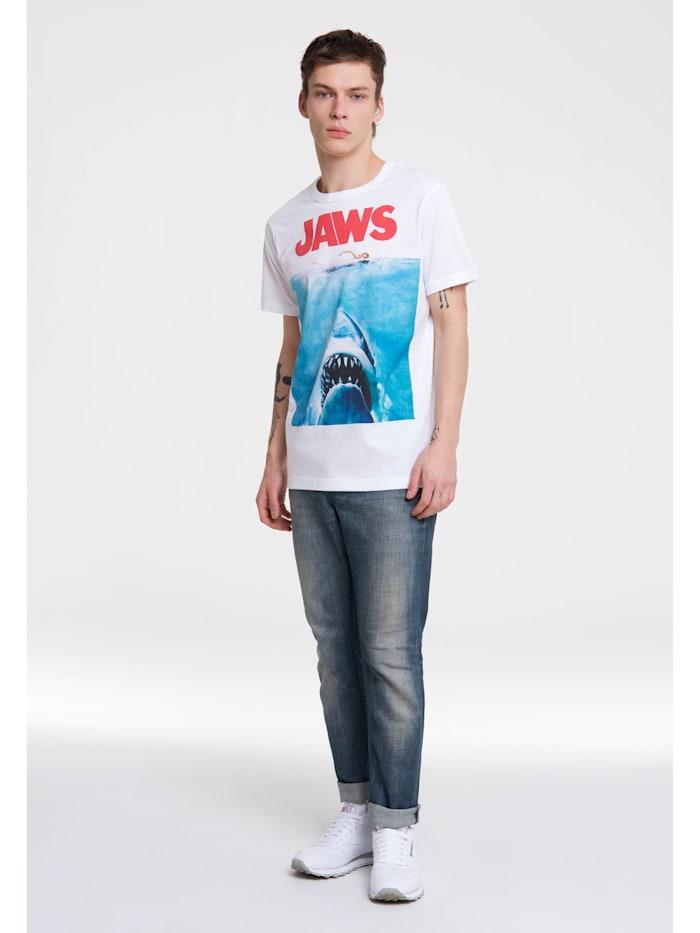 Logoshirt T-Shirt Jaws mit kultigem Print, altweiss