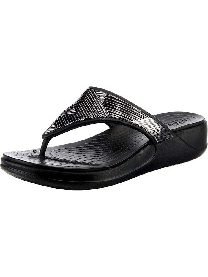 Crocs Crocs Monterey Metallic Wgfpw Zehentrenner, schwarz