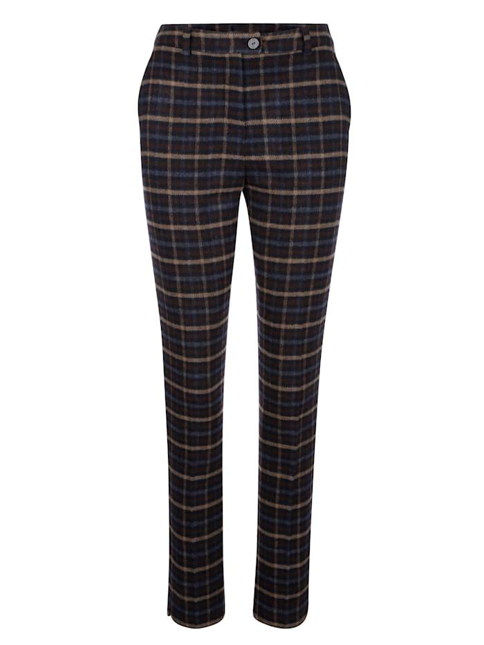 Pantalon à motif carreaux classique