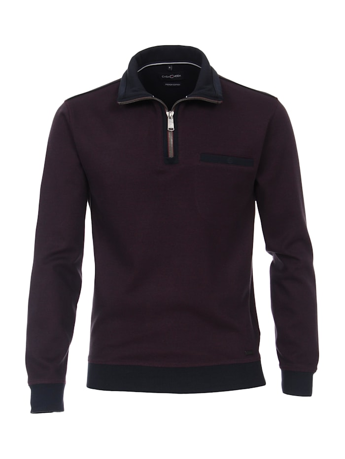 CASAMODA Sweat-Troyer andere Muster, Bordeauxrot