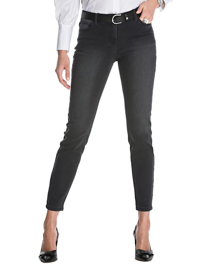 AMY VERMONT Jeans met subtielwashed effect, Zwart