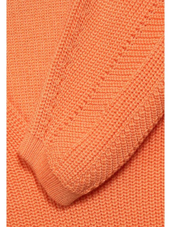 Strick-Pullover in Uni
