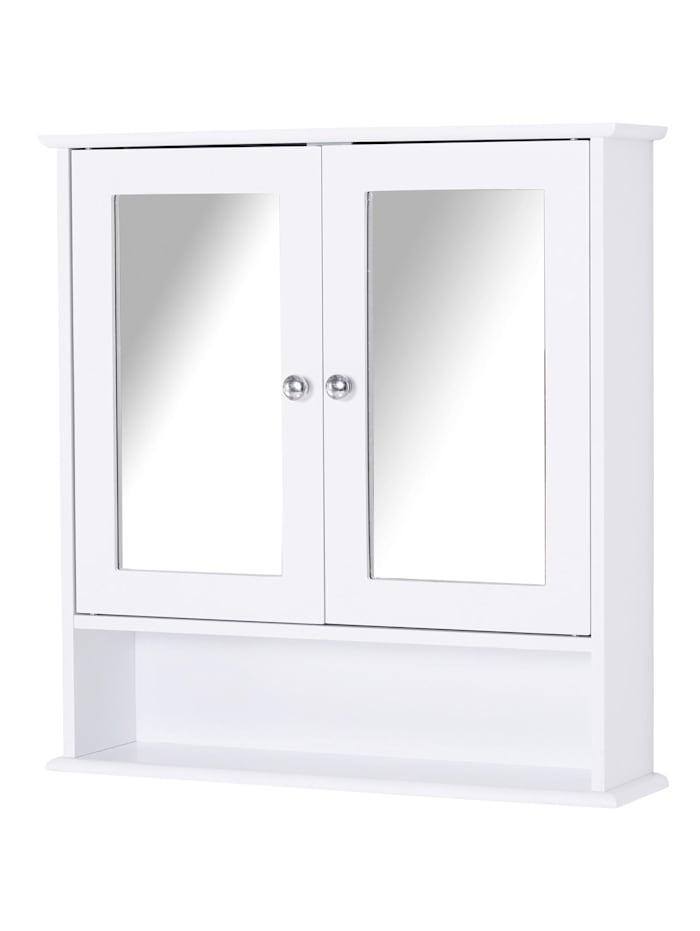 kleankin Spiegelschrank mit Ablage, weiß