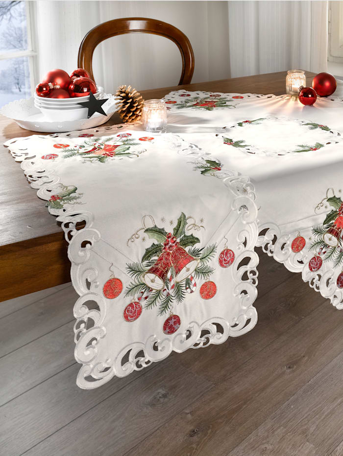 """Webschatz Linge de table """"Rachel"""", champagne/rouge/autre coloris"""