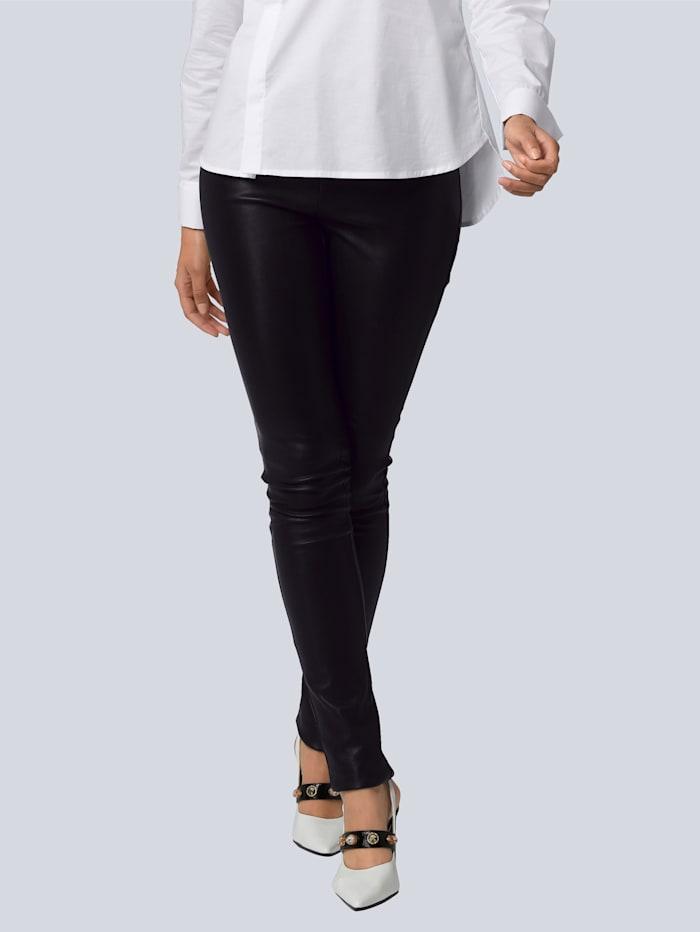Alba Moda Lederhose aus super softer Qualität, Schwarz