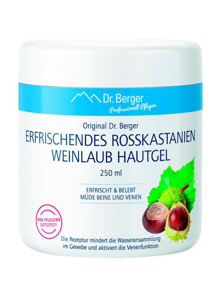 Dr.Berger Telový gél listy červeného hrozna a pagaštan konský, biela