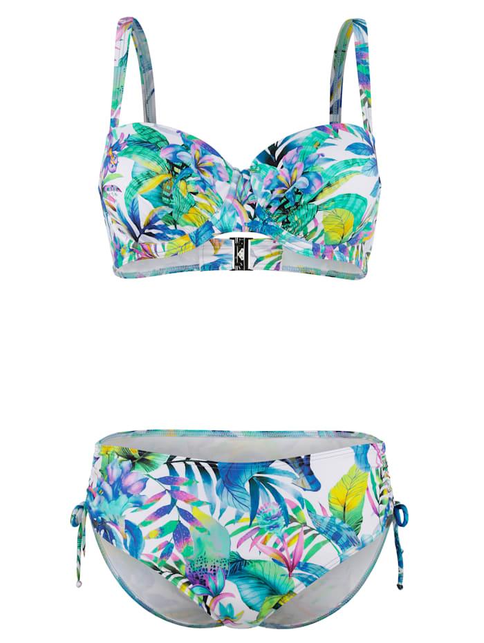 Sunflair Bikini i optimal passform upp till G-kupa, Vit/Blå