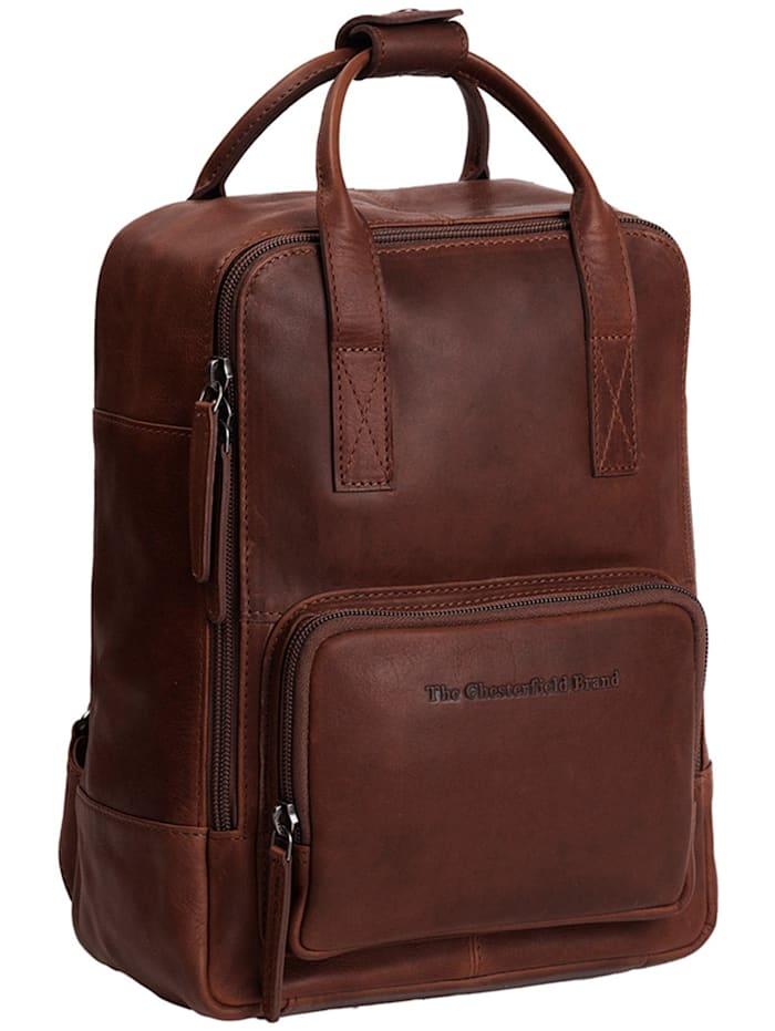 The Chesterfield Brand Wax Pull Up Danai Rucksack Leder 36 cm Laptopfach, braun