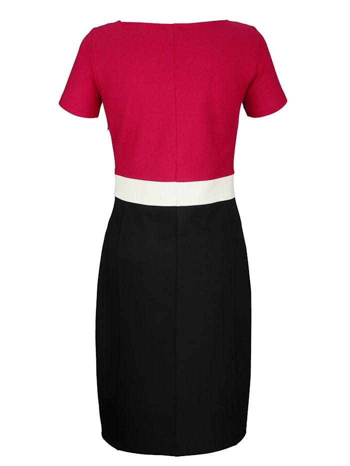 Kleid in Colour-Blocking
