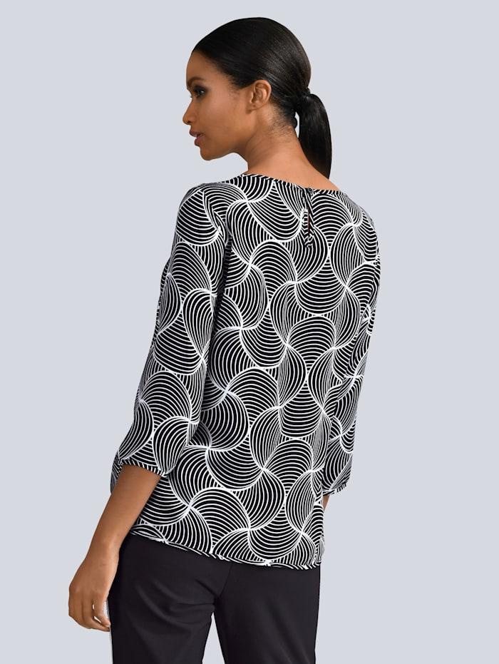 Bluse med eksklusivt mønster