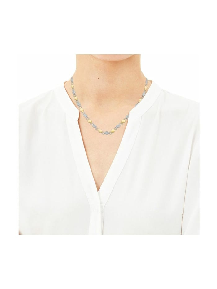 Collier für Damen aus Edelstahl mit IP Gold besetzt mit Kristallen von Swarovski®