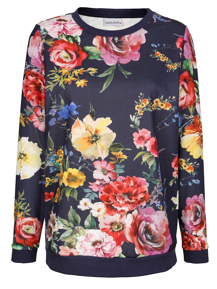 Sweatshirt i storblommigt