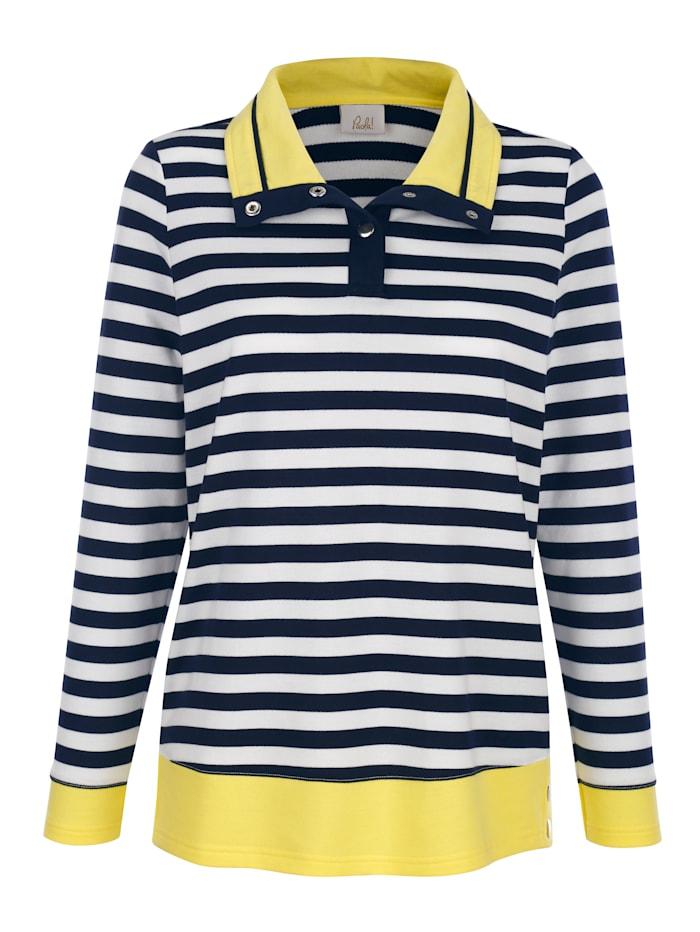 Sweatshirt med randigt mönster