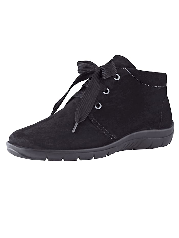 Naturläufer Lace-up Ankle boots made of soft leather, Black