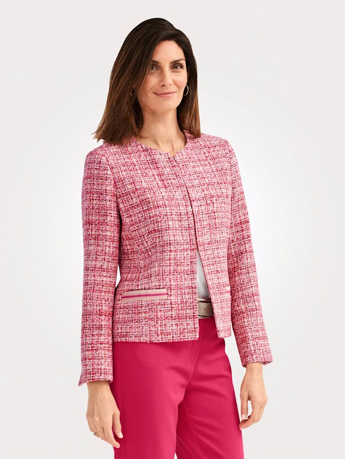 MONA Blazer aus Strukturgarn, Pink/Rot