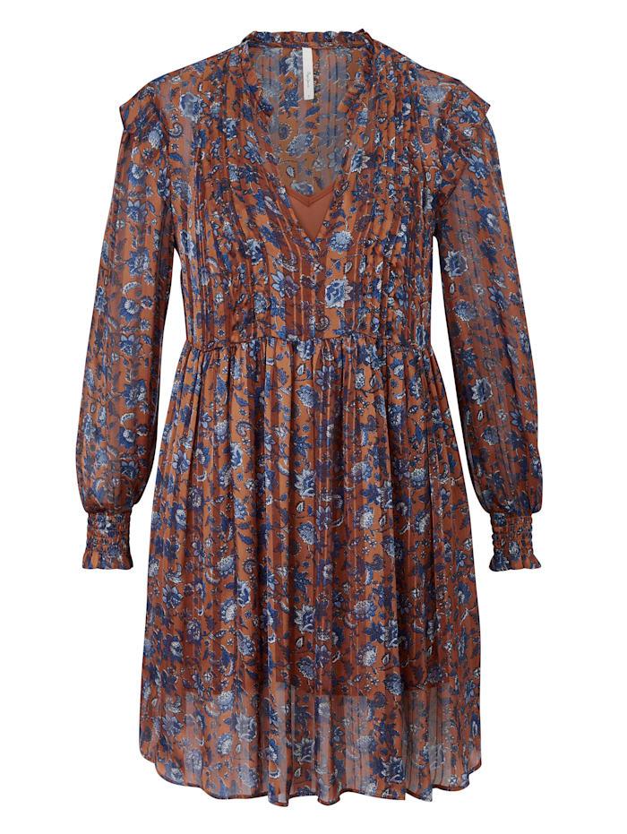 Pepe Jeans Kleid mit Blütenprint, Orange