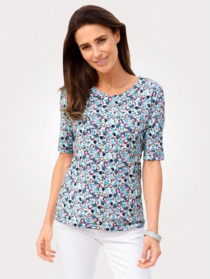 Rabe Shirt mit grafischem Druck, Marineblau/Rosé