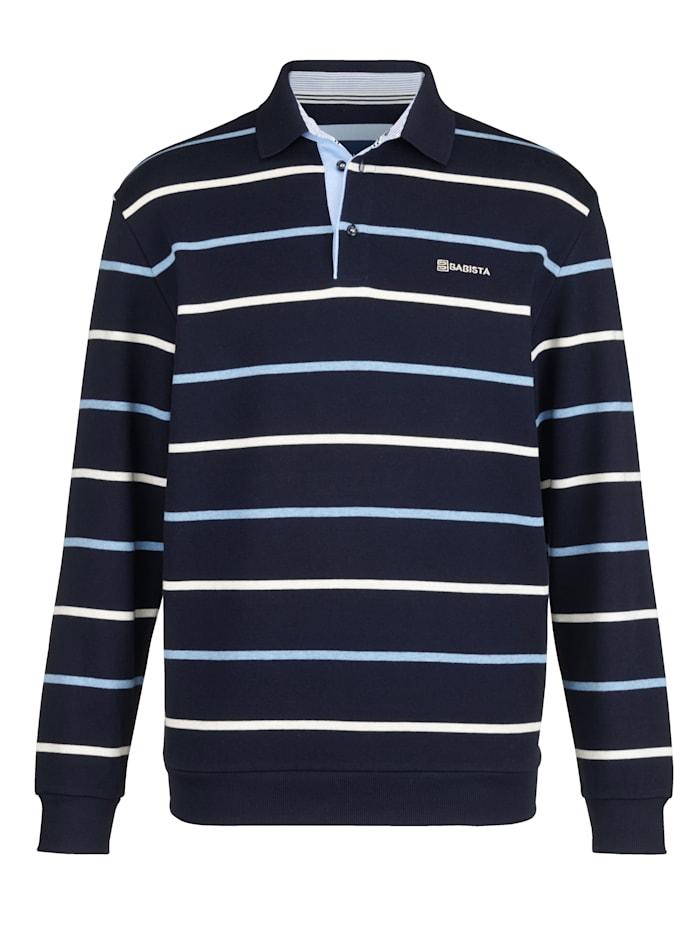 BABISTA Sweat-shirt à col polo, Marine