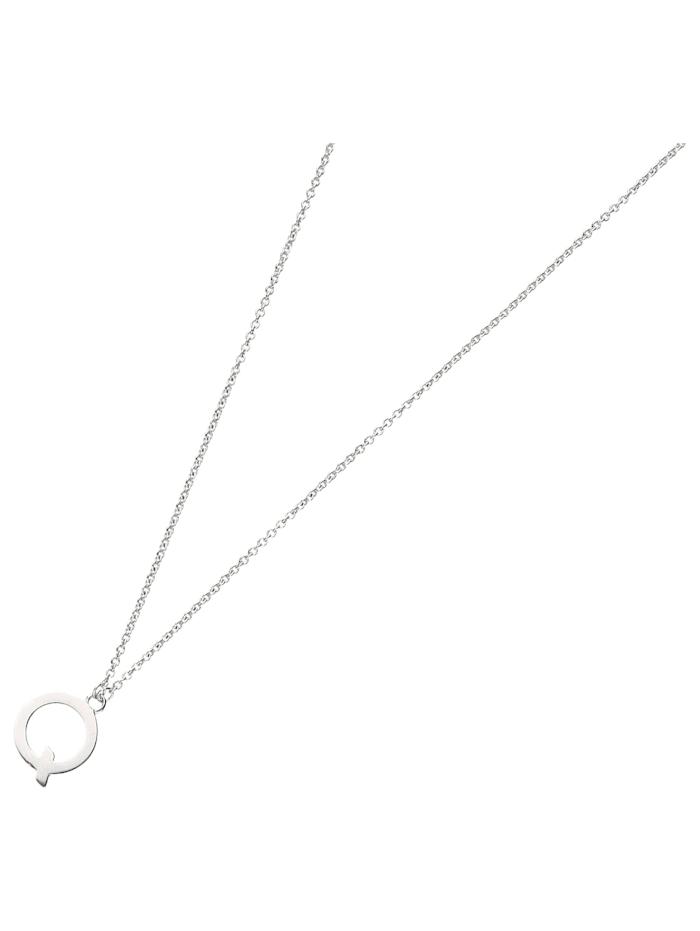 Smart Jewel Collier Buchstabe Q, Silber 925, Silber