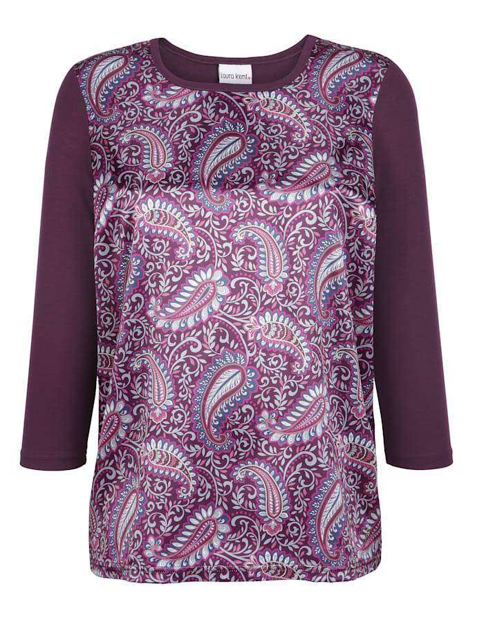 Shirt mit Paisley-Dessin im Vorderteil