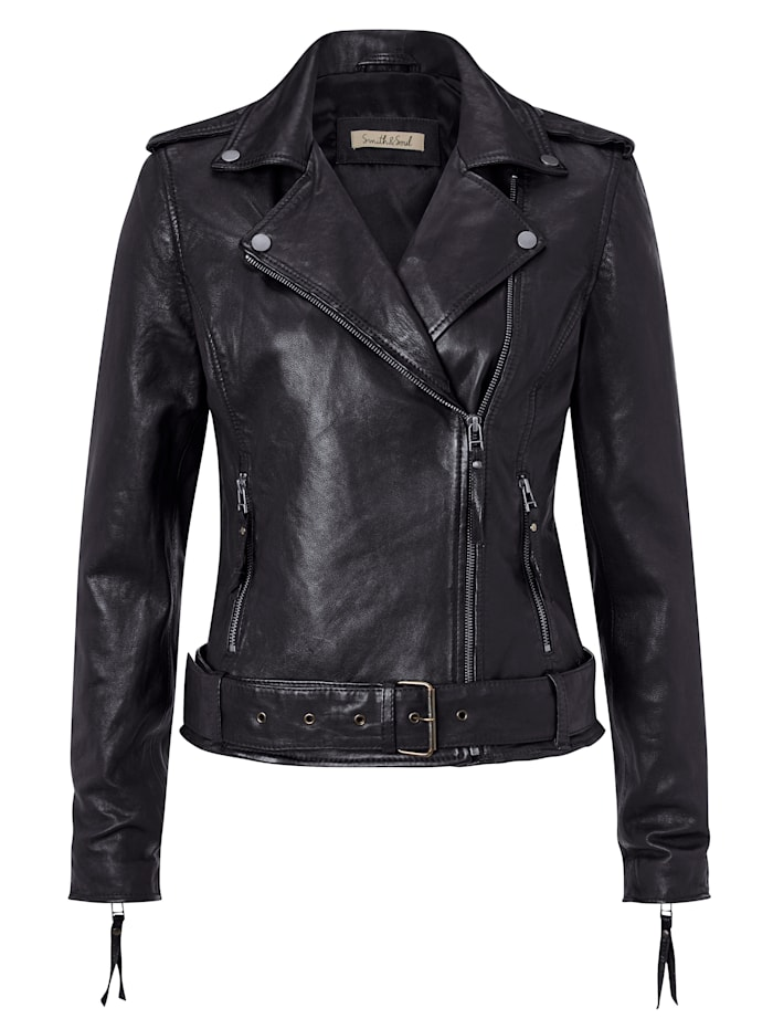 Smith & Soul Lederjacke, Schwarz