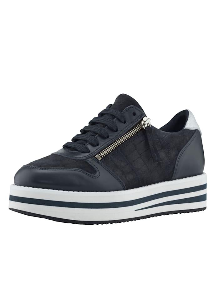Sneakers med hög sula, Marinblå