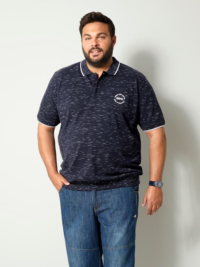 Men Plus Poloshirt Spezialschnitt, Marineblau/Weiß