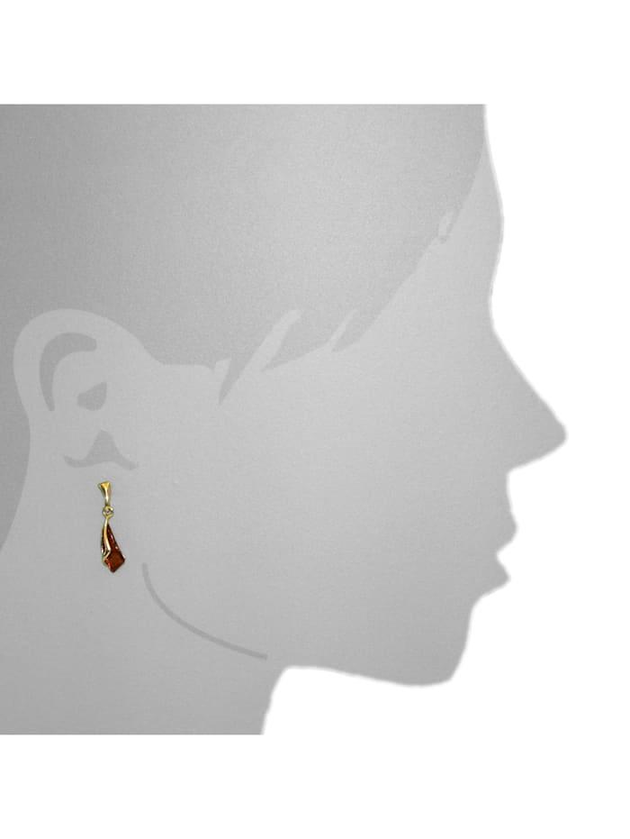 Ohrhänger - Tilde - Gold 375/000 - Bernstein