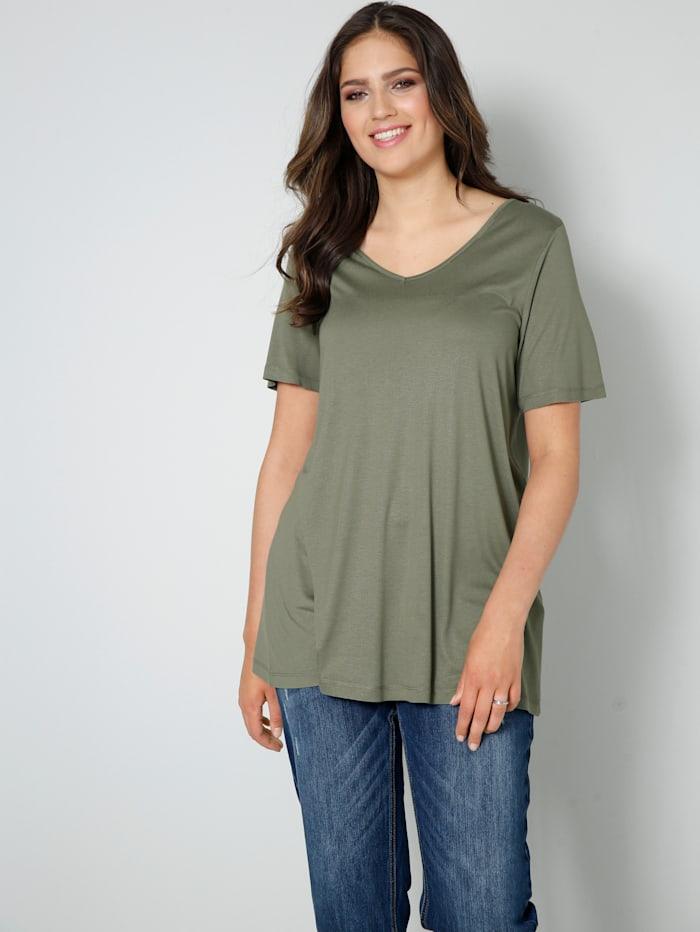 Janet & Joyce Shirt aus reiner Viskose, Khaki