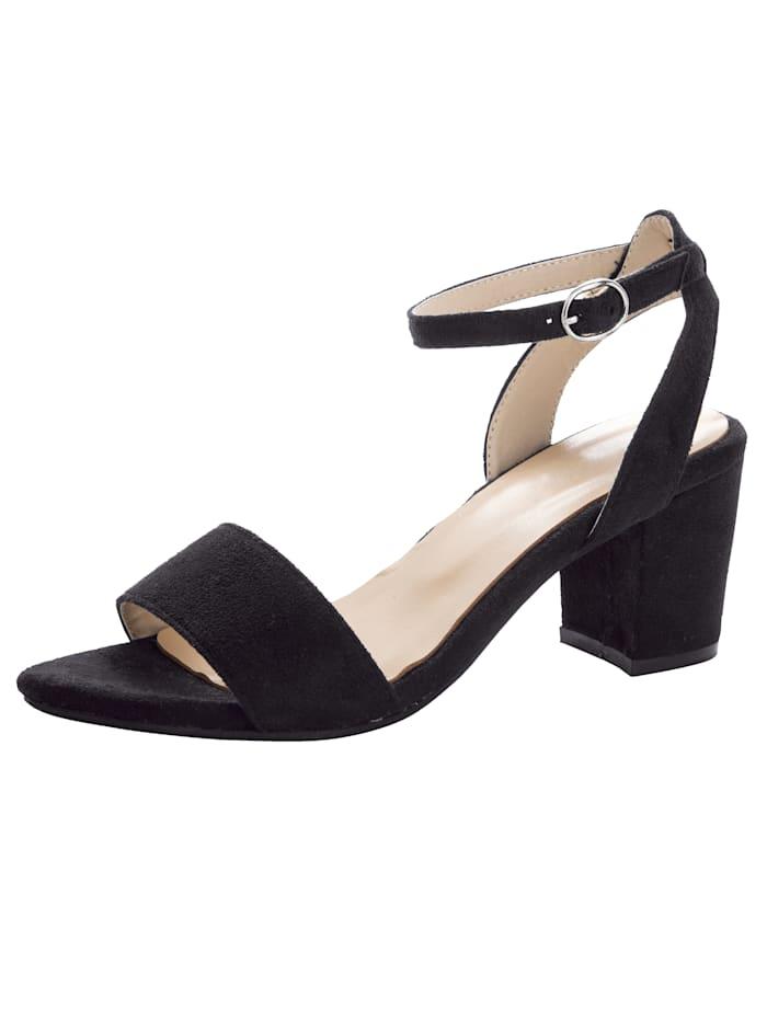KLiNGEL Sandaaltje in trendy look, Zwart