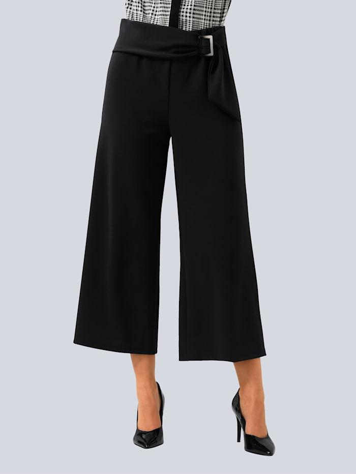 Alba Moda Hose in aktueller Culotte-Form, Schwarz