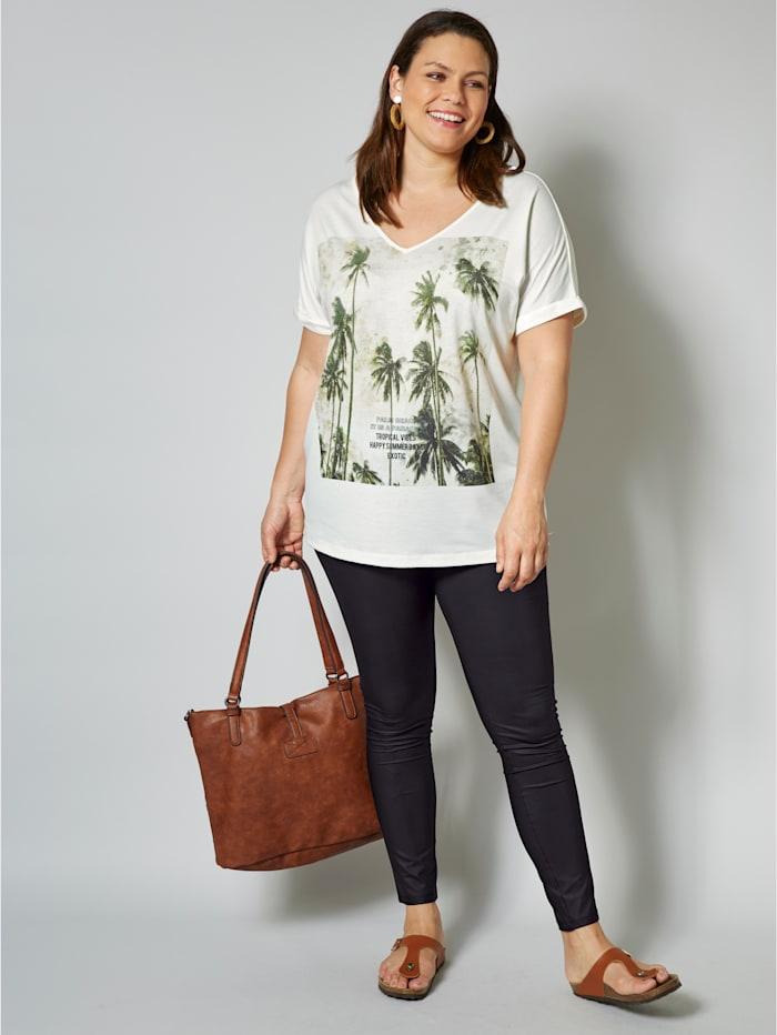 Shirt met palmenmotief