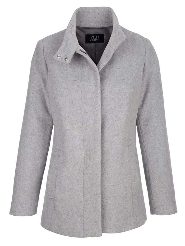 Veste en drap de laine mélangée de qualité haut de gamme
