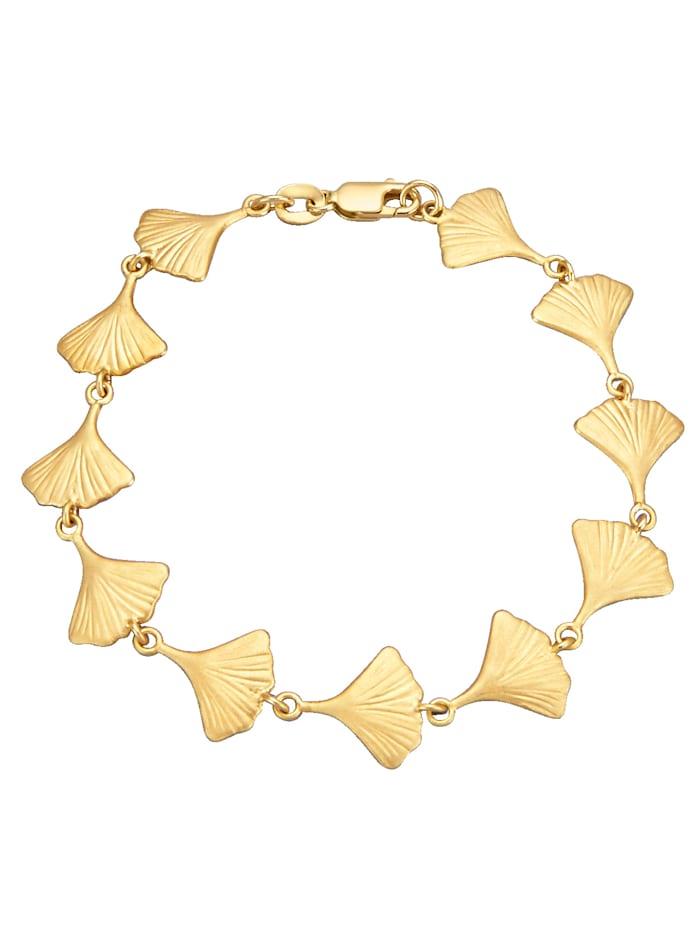 Diemer Gold Ginkgo-Armband, Gelbgoldfarben