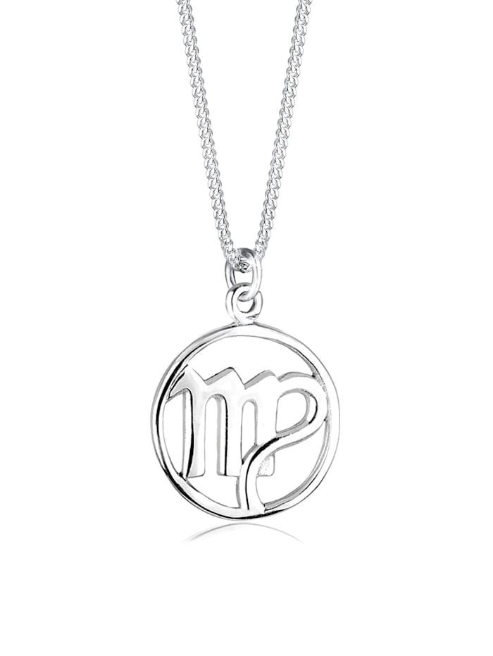Elli Halskette Sternzeichen Jungfrau 925 Sterling Silber, Silber